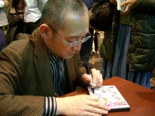 田中さんサイン攻め