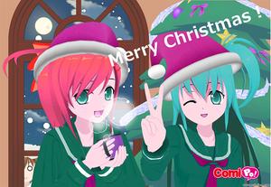 クリスマスカード横