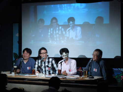 田中圭一氏、ダ・ヴィンチ・恐山氏、セブ山氏、柿崎俊道氏によるトークショー