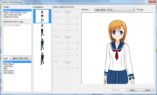 Character Design Editor : Create a new character how to comipo user manual